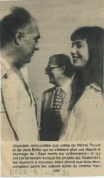 Jane Birkin et Michel Piccoli presse française