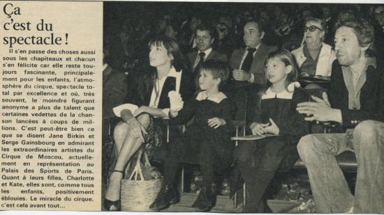 Jane Birkin Serge et Charlotte Gainsbourg presse française