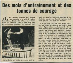 Jane Birkin gala de l'union des artistes article presse française