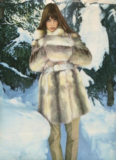 jane birkin dans la neige