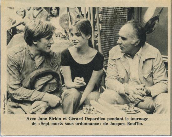 Jane Birkin Depardieu et Piccoli presse française