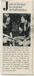 Jane Birkin et Renaud Verley presse française