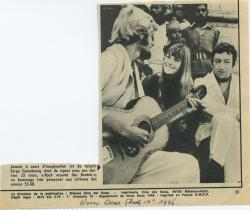 Jane Birkin et Serge Gainsbourg article presse française