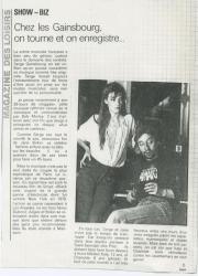 Jane Birkin Gainsbourg presse française