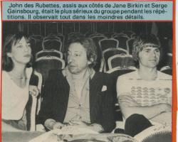 Jane Birkin Gainsbourg article presse française
