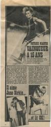Jane Birkin coupure de presse