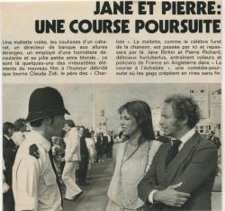 Jane Birkin La course à l'échalote article presse française