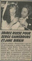 jane birkin et serge gainsbourg article de presse
