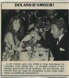 jane birkin et gainsbourg article de presse