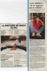 Jane Birkin presse française Télé Star