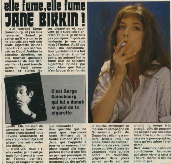 Jane Birkin presse française