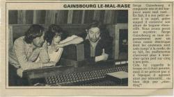 Jane Birkin Serge Gainsbourg presse française