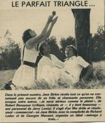 Jane Birkin presse française Sérieux comme le plaisir