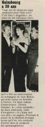 Jane Birkin et Serge Gainsbourg presse française Paris Match 5 mai 1978