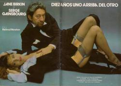 Jane Birkin et Serge Gainsbourg Yes, presse etrangere espagnole, n 35  - 16 fevrier 1978  e